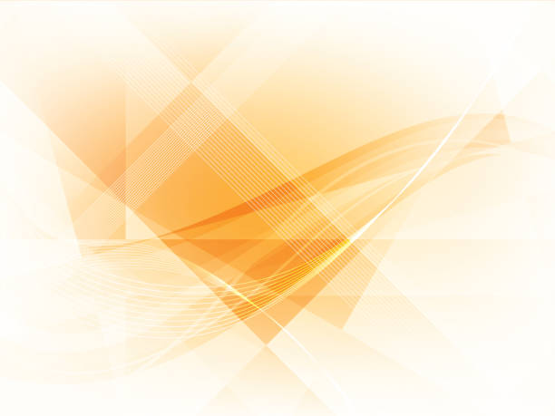 background with geometrical shapes in vector. - orange color stock illustrations