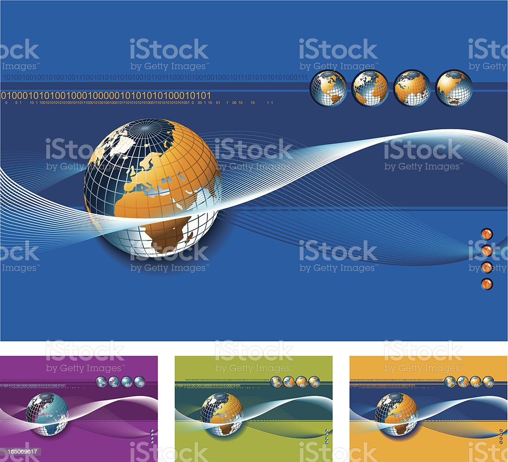 Background with Globe of World royalty-free stock vector art
