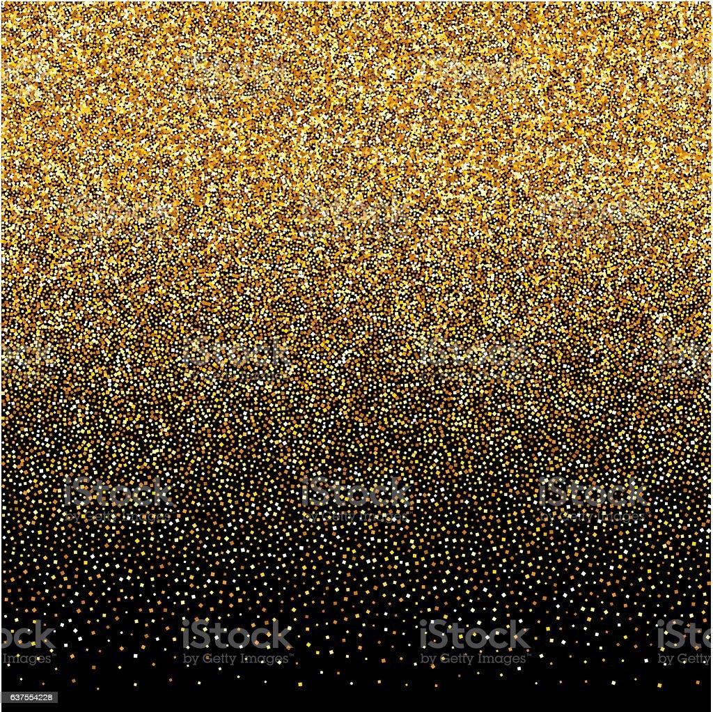 background with gold gradient texture on black backdrop vector art illustration