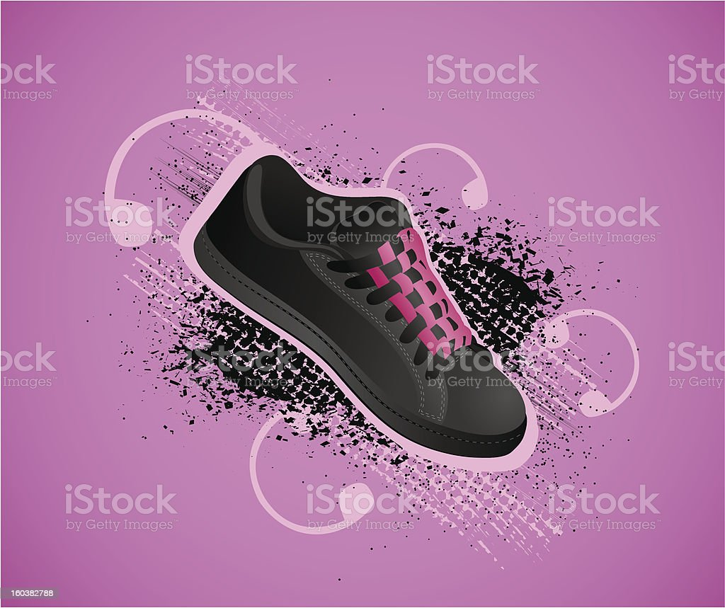 Background with gym shoes royalty-free background with gym shoes stock vector art & more images of abstract