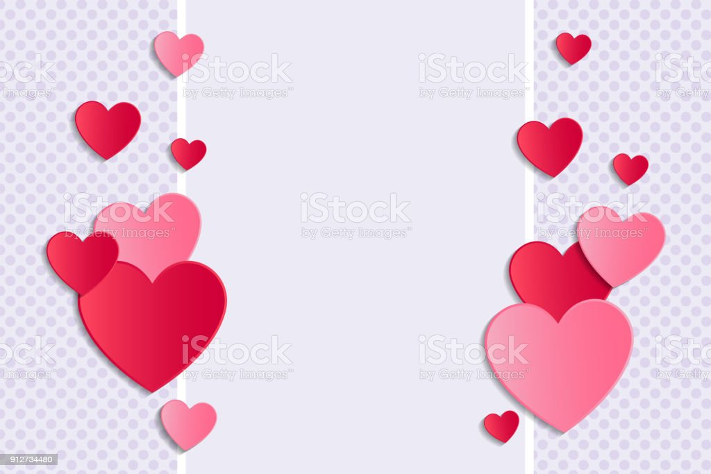 Background With Hearts And Copyspace Valentines Day Womens Day And