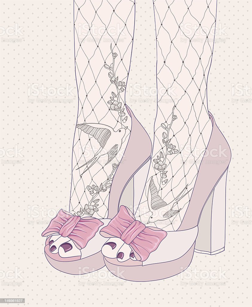 Background with high heels fashion shoes royalty-free stock vector art
