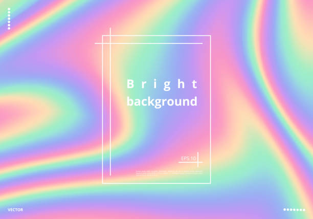 background with holographic effect - rainbow glitter background stock illustrations