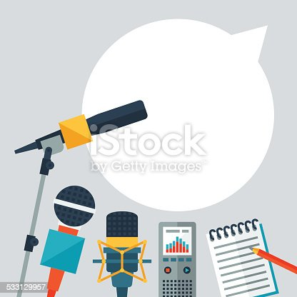 istock Background with journalism icons. 533129957
