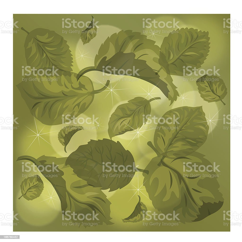 background with leaves royalty-free stock vector art