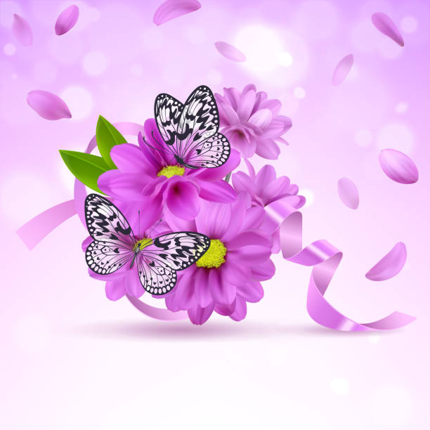 Royalty free paper kite butterfly clip art vector images background with lilac flowers and butterflies vector art illustration mightylinksfo