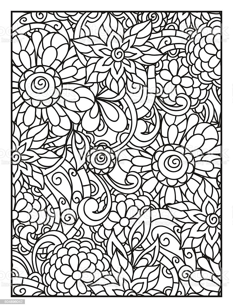Ligne de fond avec des fleurs pour adulte page de for Ligne de fleurs
