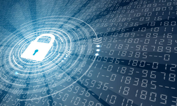 background with lock 2 - cyber security stock illustrations