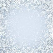 Frosty winter background with copy space.  EPS10 file contains transparencies.  AI10 file with uncropped shapes and hi res jpeg are included.  Scroll down to see more of my illustrations.