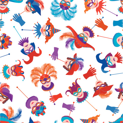 background with masquerade masks
