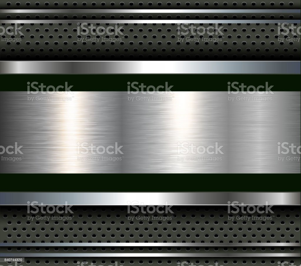 Background with metal plate bars vector art illustration