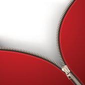 Background with metallic zipper