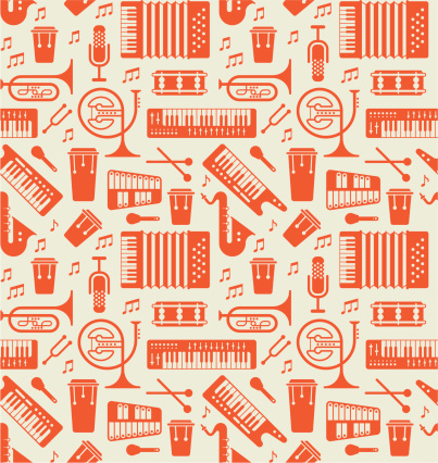 Background with music instruments