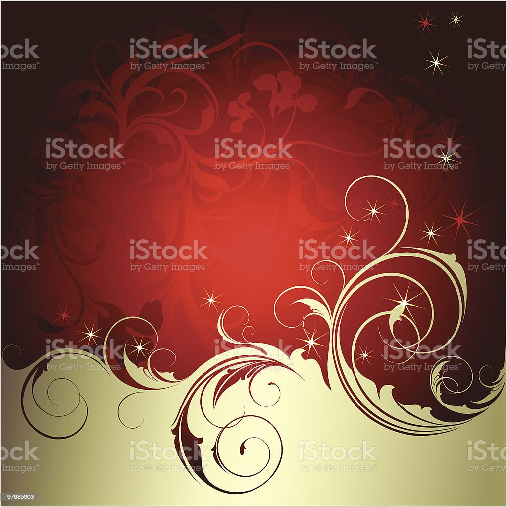 Background with ornate floral elements. royalty-free stock vector art