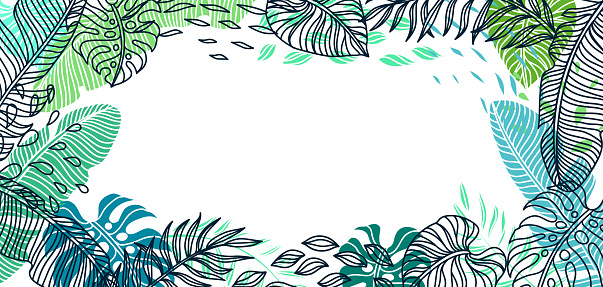 Background with palm leaves.