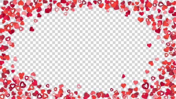 tło z papierowymi sercami - kartka na walentynki stock illustrations
