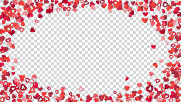 background with paper hearts - valentines day stock illustrations