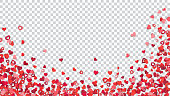 Background with paper hearts