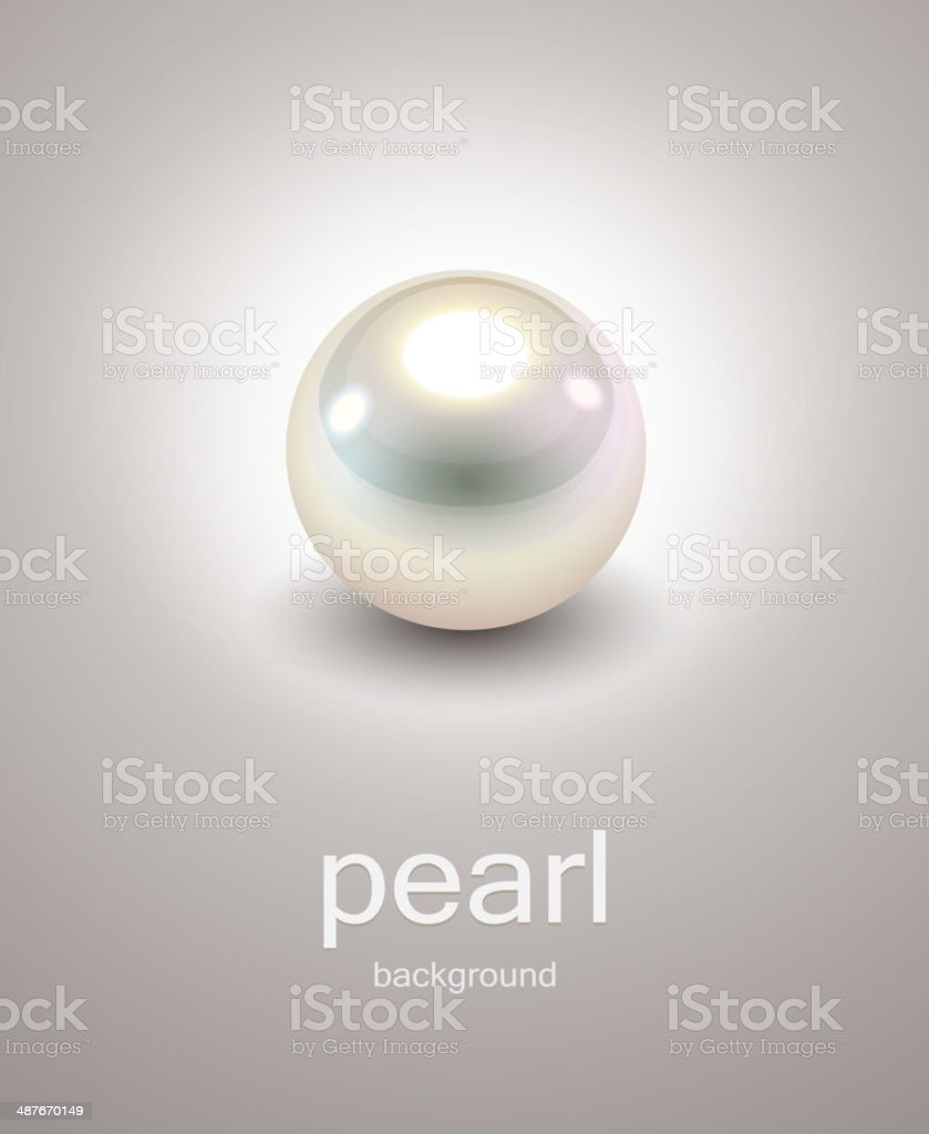 Background with pearl vector art illustration