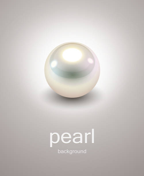 background with pearl - pearl jewelry stock illustrations, clip art, cartoons, & icons
