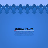 Background with people head silhouette. Vector illustration
