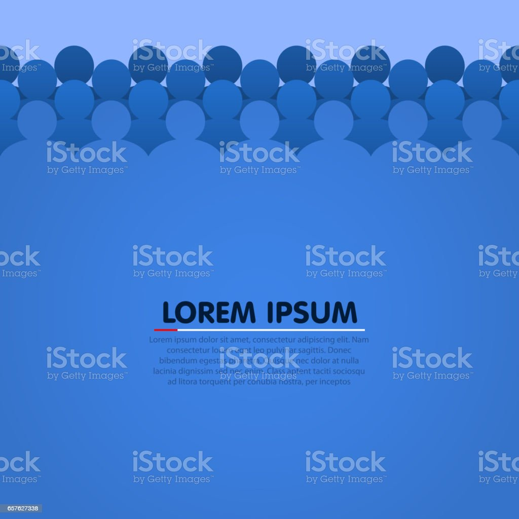 Background with people head silhouette. Vector vector art illustration