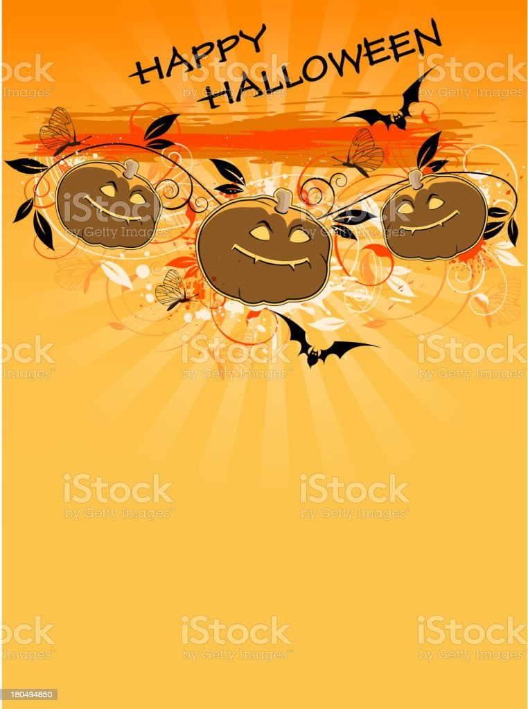 Background with pumpkins royalty-free stock vector art