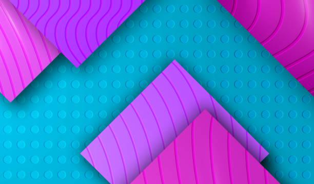 stockillustraties, clipart, cartoons en iconen met achtergrond met purper violet mozaïek. - stickers met relief
