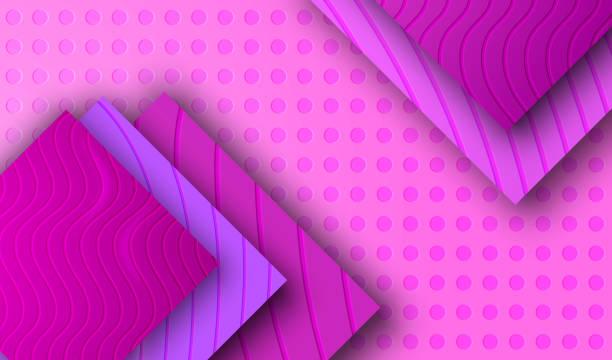 stockillustraties, clipart, cartoons en iconen met achtergrond met purpere violet plastic tegel. - stickers met relief