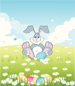 vector file of background with rabbit