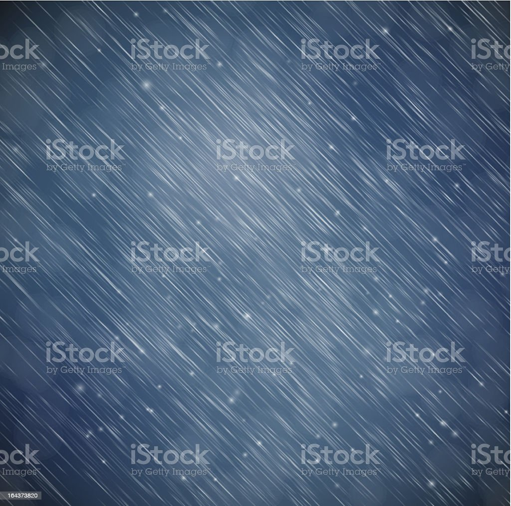 Background with rain vector art illustration