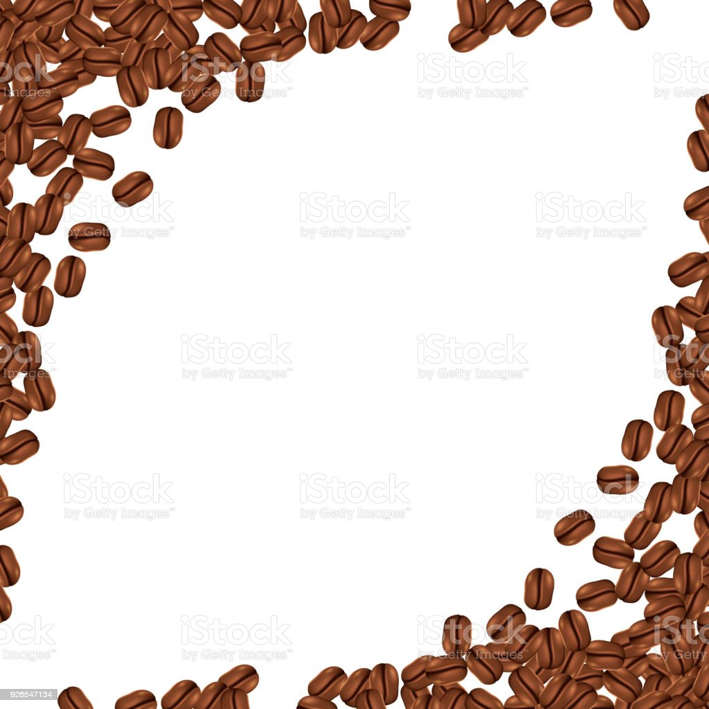 Background With Realistic Coffee Beans And Copy Space Vector ...