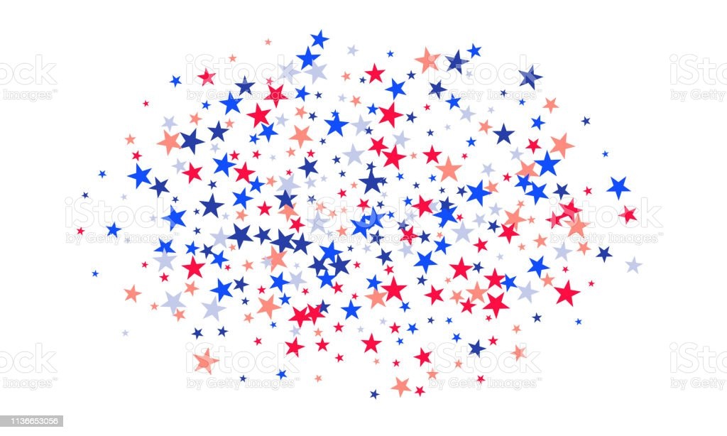 Background With Red And Blue Stars Holiday Graphic Design