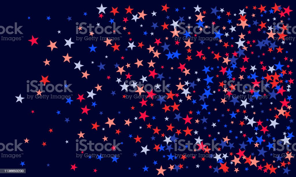 Background With Red And Blue Stars Holiday Graphic Design Red Blue Stars American Patriotic Graphics Stock Illustration Download Image Now