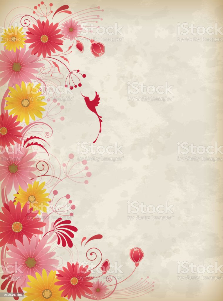 Background with red and yellow flowers royalty-free background with red and yellow flowers stock vector art & more images of 1940-1949