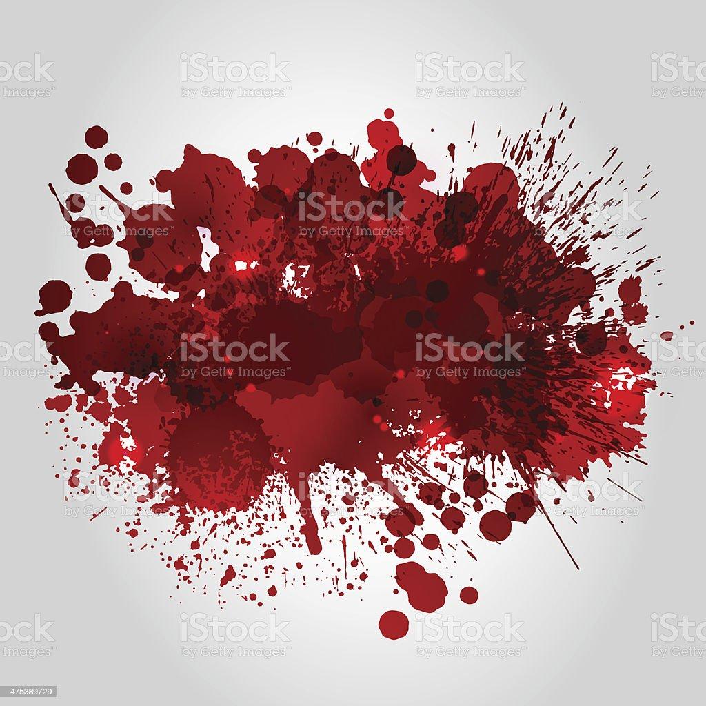 Hintergrund mit roten blots – Vektorgrafik