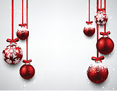 Background with red christmas balls.