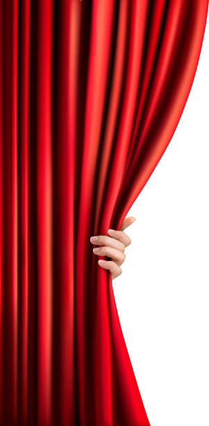 Drapes - Stage Red Velvet Curtains, HD Png Download , Transparent Png Image  - PNGitem