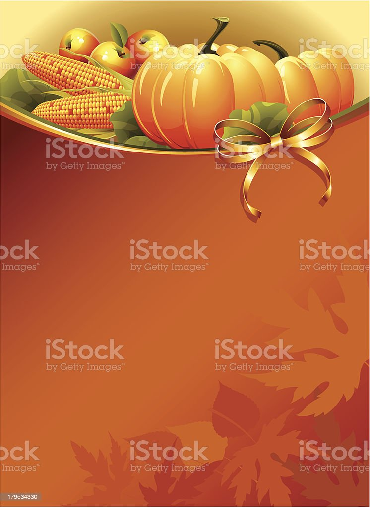 Background with ripe pumpkins. royalty-free stock vector art