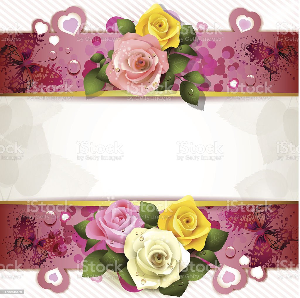Background with roses royalty-free stock vector art