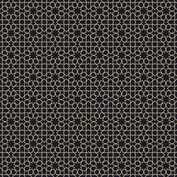 background with seamless pattern in arabic style. - arab stock illustrations