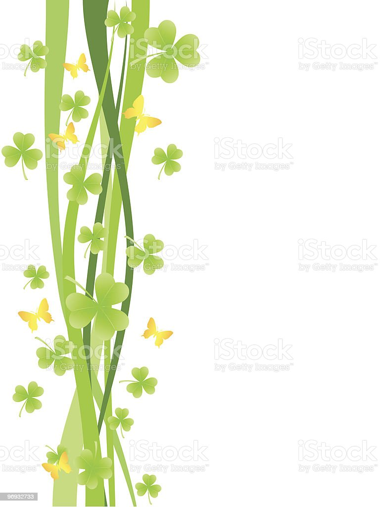 Background with shamrock royalty-free background with shamrock stock vector art & more images of backgrounds