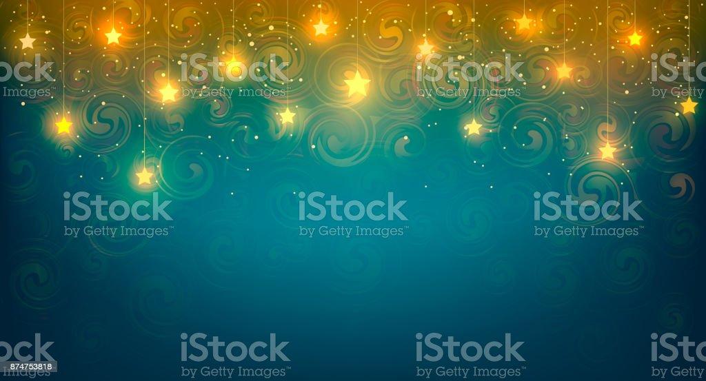 Background with shiny stars. Vector illustration of background with yellow cozy shiny stars. vector art illustration