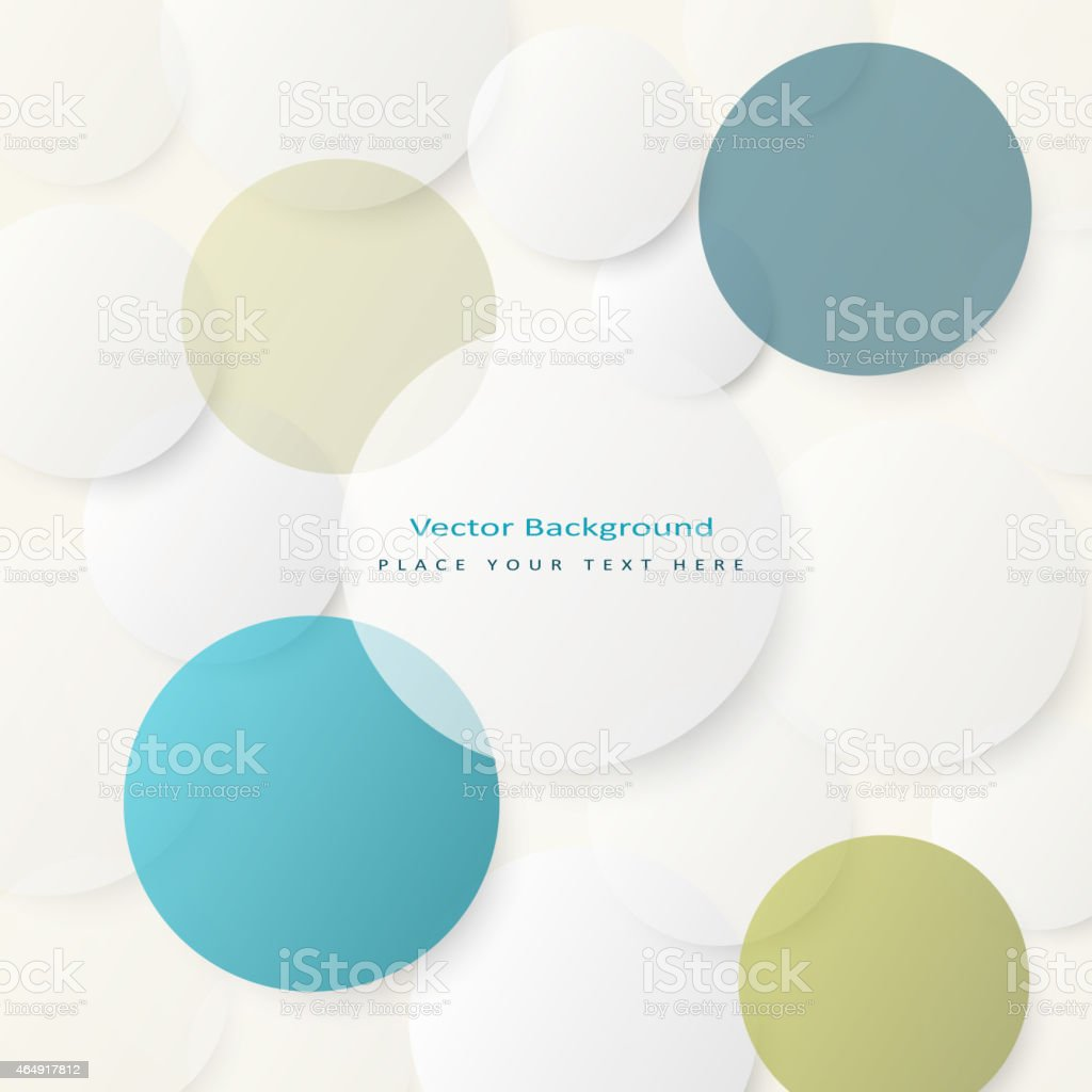 Background with simple white circles vector art illustration