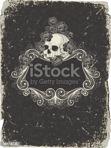 istock Background  with  skull 104192361
