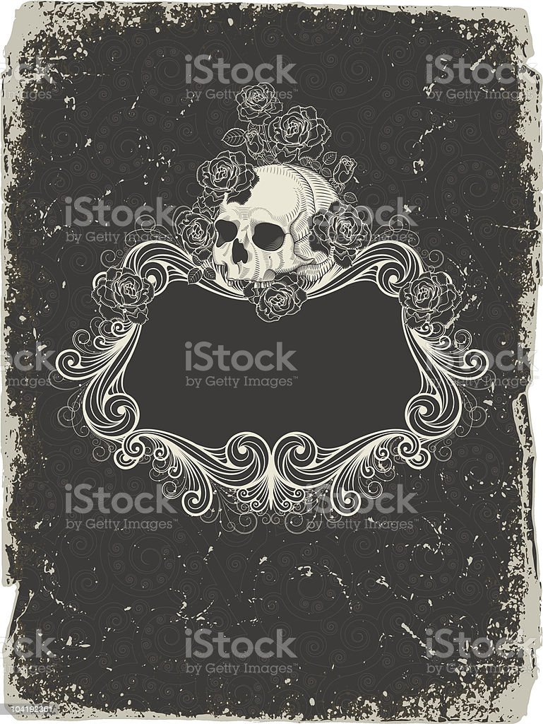 Background  with  skull vector art illustration