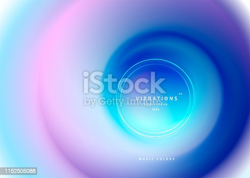 Background with smooth flow of colors. Vibrant abstract gradual blend between shades with fluid blurred gradient. Trendy minimalist design with blur shapes. Beautiful backdrop can be used for cover, website, posters. Vector illustration