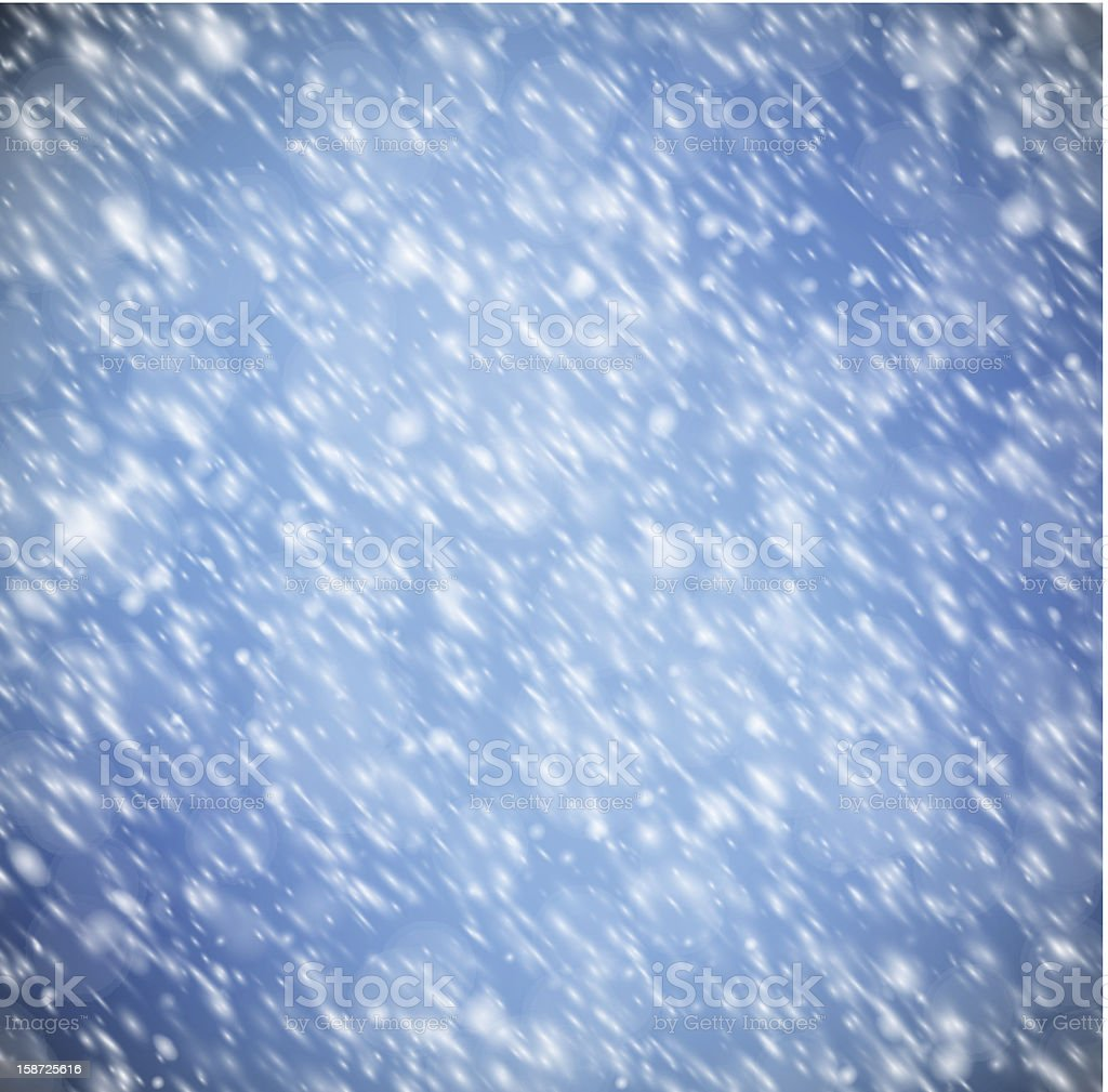 Background with snow vector art illustration