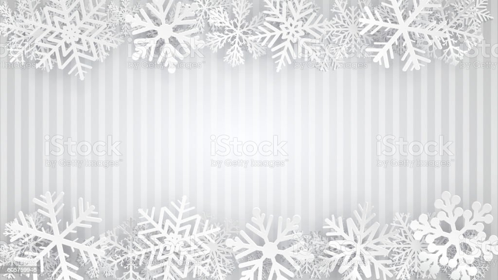 Background with snowflakes vector art illustration