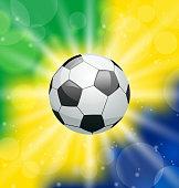 Illustration background with soccer ball, for Brazil 2014 - vector